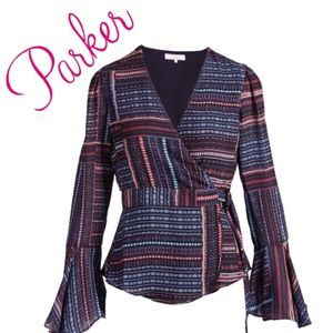 Parker💗SEXY Wrap Blouse w/Bell Sleeves!